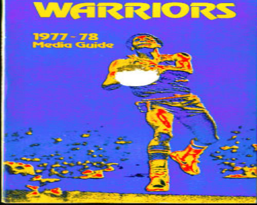1977-1978 Golden State Warriors Media Guide NBA Basketball