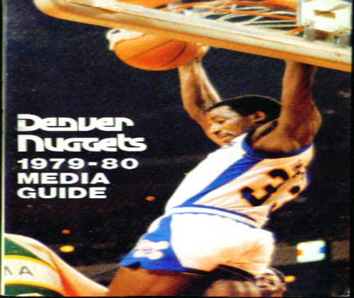 1979-1980 Denver Nuggets Media Guide NBA Basketball