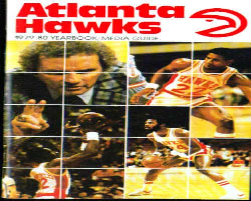 1979-1980 Atlanta Hawks Media Guide NBA Basketball