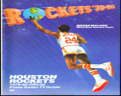 1979-1980 Houston Rockets Media Guide NBA Basketball