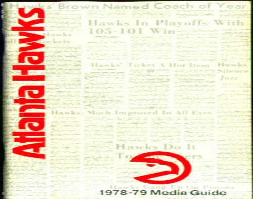 1978-1979 Atlanta Hawks Media Guide NBA Basketball