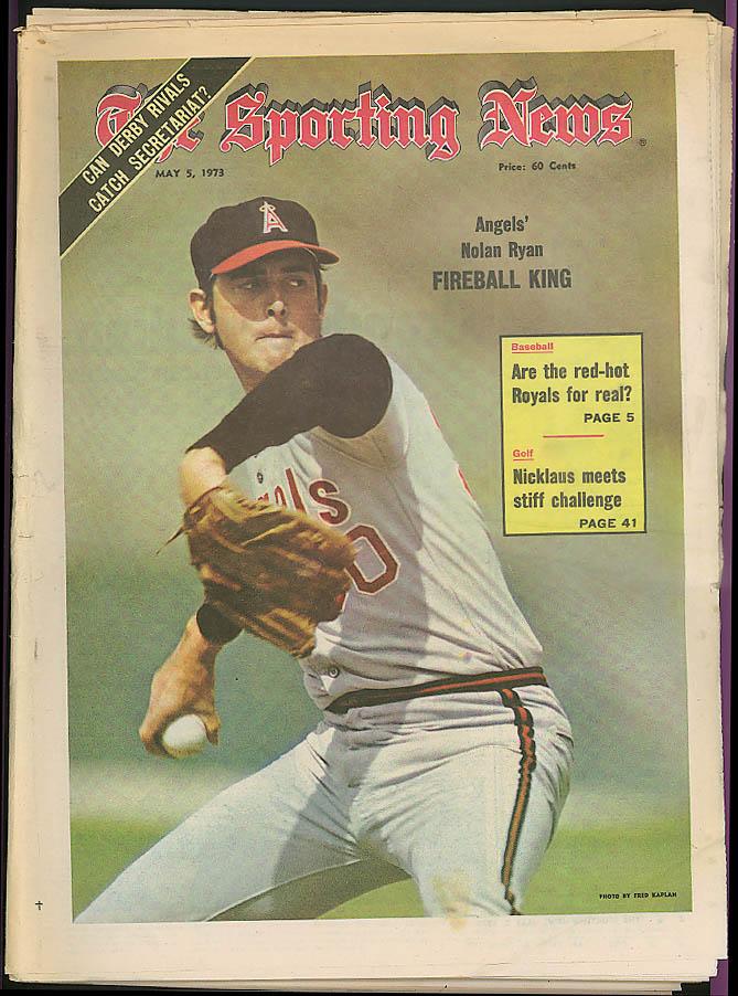 THE SPORTING NEWS Nolan Ryan Angels Jack Nicklaus Secretariat 5/5 1973