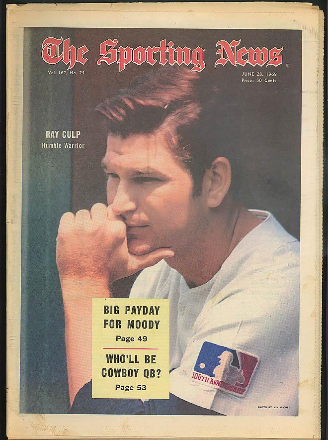 THE SPORTING NEWS Ray Culp Ron Swoboda Bud Harrelson Tom Seaver 6/28 1969