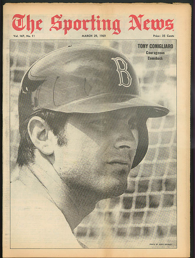 THE SPORTING NEWS Tony Conigliaro Mickey Lolich Frank Robinson 3/29 1969