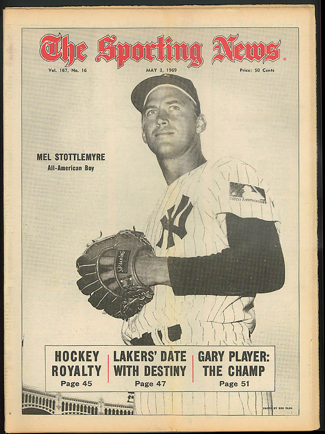 THE SPORTING NEWS Mel Stottlemyre Gary Player Bill Stoneman 5/3 1969