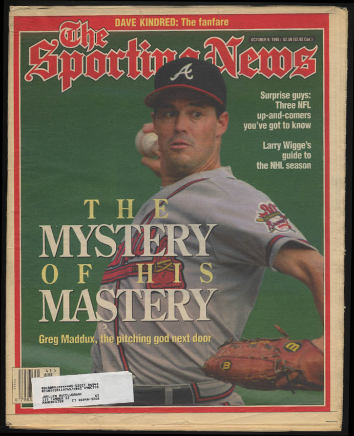 SPORTING NEWS Greg Maddux Larry Wigge Dave Kindred 10/9 1995