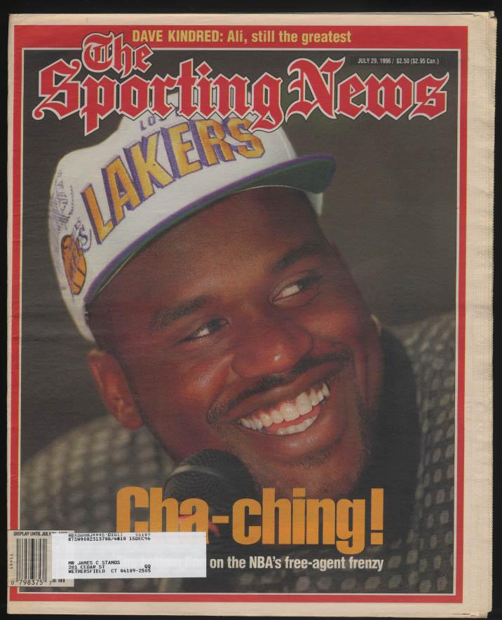 SPORTING NEWS Shaq Shaquille O'Neal Muhammad Ali 7/29 1996