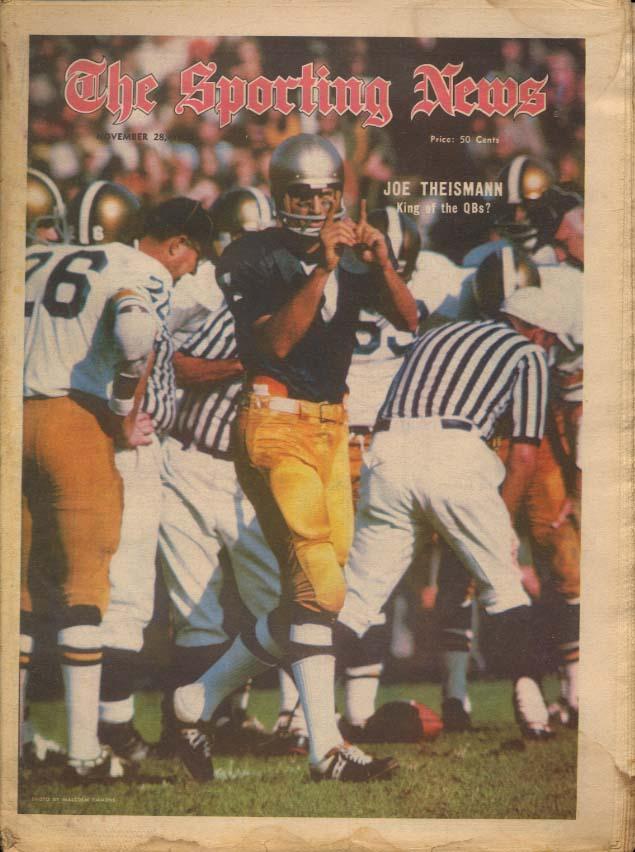 SPORTING NEWS 11/28 1970 Theismann NCAA Football Alan Page Fred Dryer