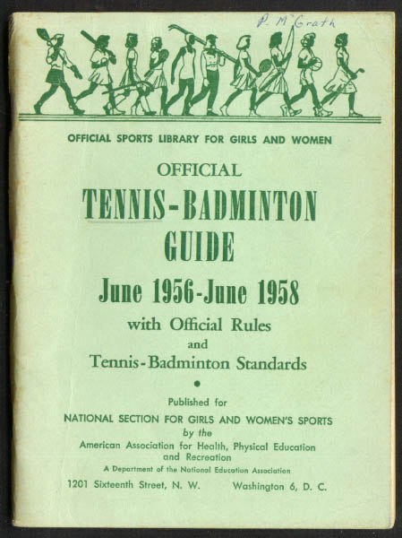 1956-58 Women's Tennis Badminton Guide