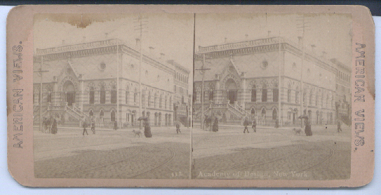 New York Academy of Design stereoview 187?