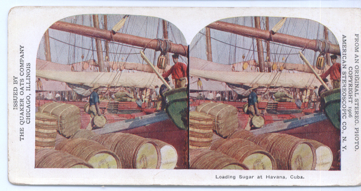 Loading Sugar Havana Cuba 1906 Stereoview