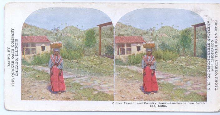 1906 Stereoview Cuban Peasant Home Santiago