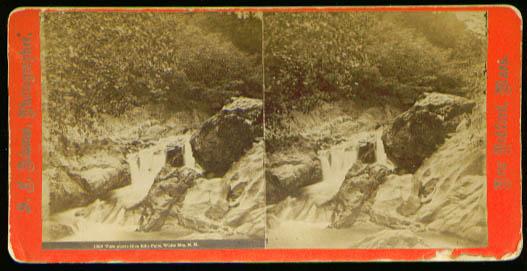 Glen Ellis Falls White Mountains stereoview 1870s?