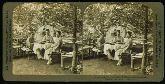 Japanese Ladies Tea Dogashima 1901 stereoview