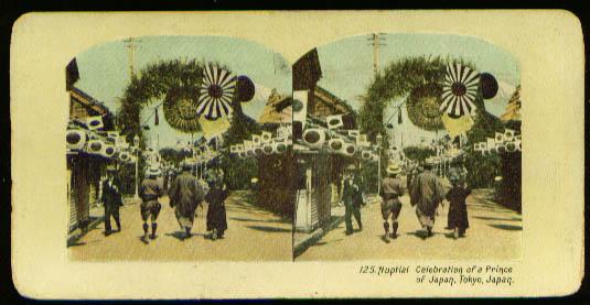 Prince Japan Nuptials Celebration Tokyo 1904 stereoview
