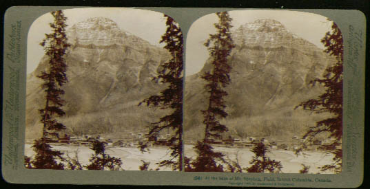 Kicking Horse Mount Stephen British Columbia steroview 1900