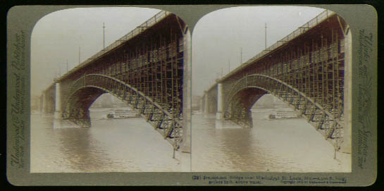 $10 million Bridge St Louis stereoview 1903