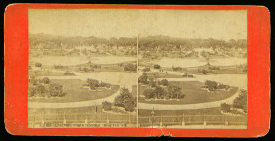 Boston Public Garden View stereo 1870s
