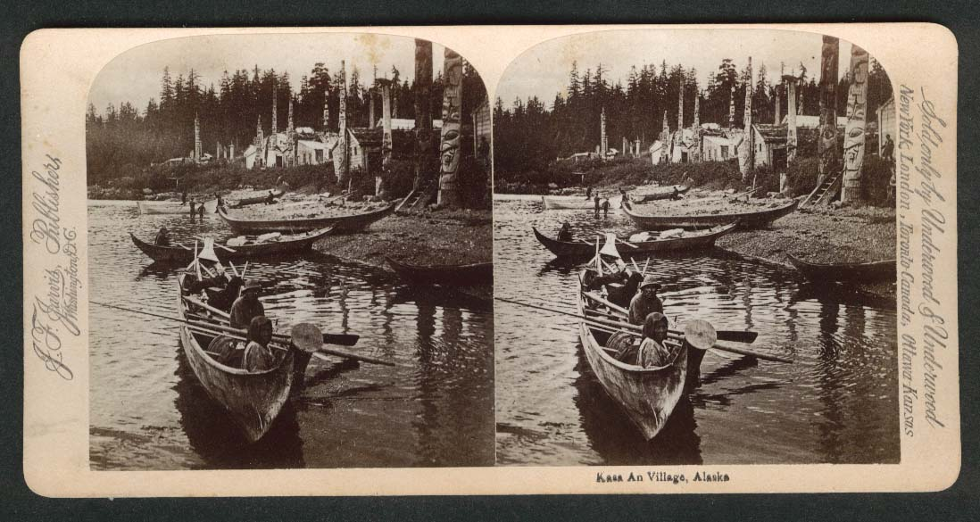 Kasa An Village Alaska stereoview