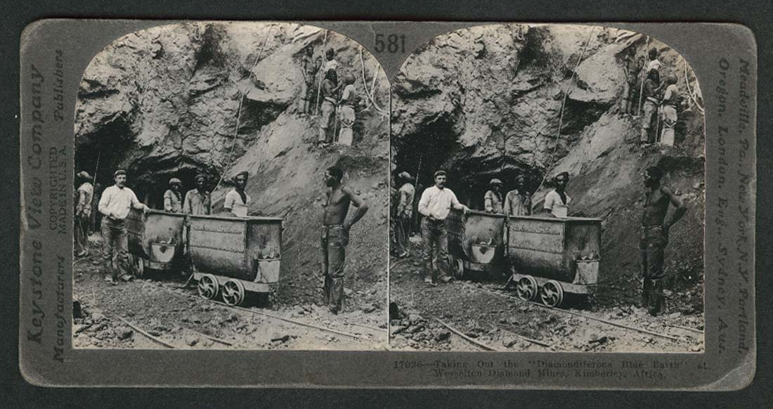 Kimberley Diamond Mines Africa stereoview