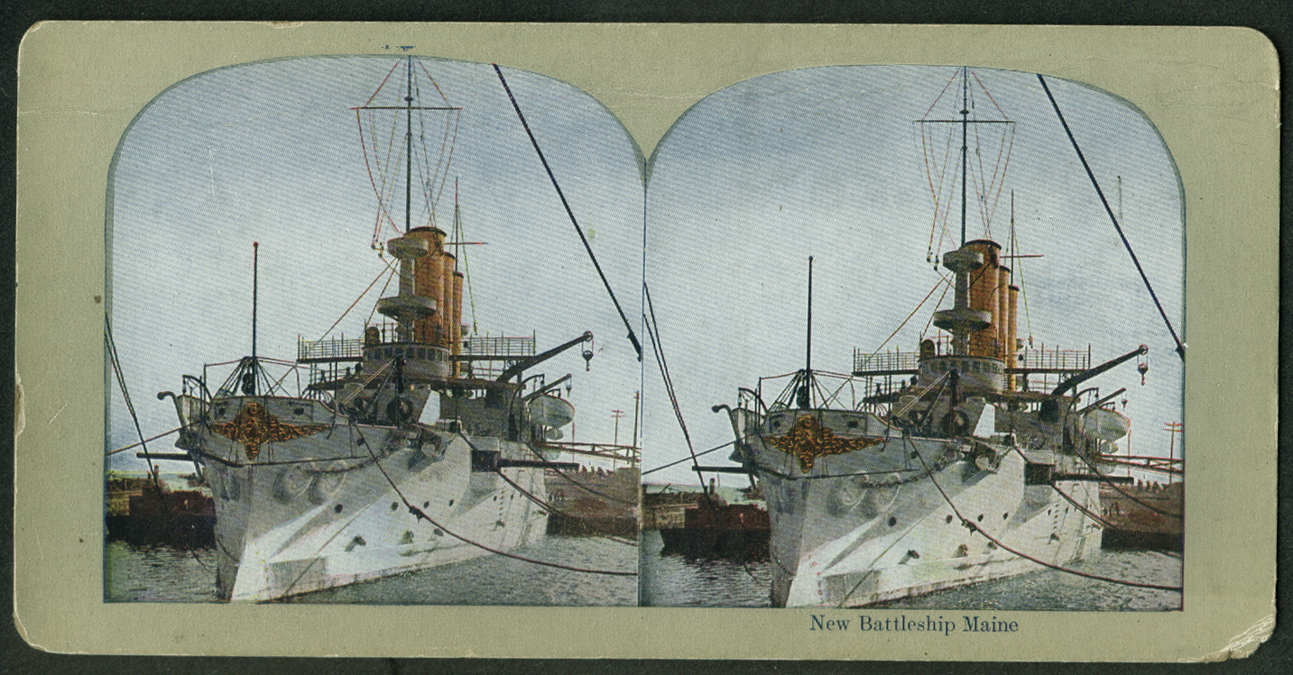 Battleship U S S Maine BB-10 stereoview 1902