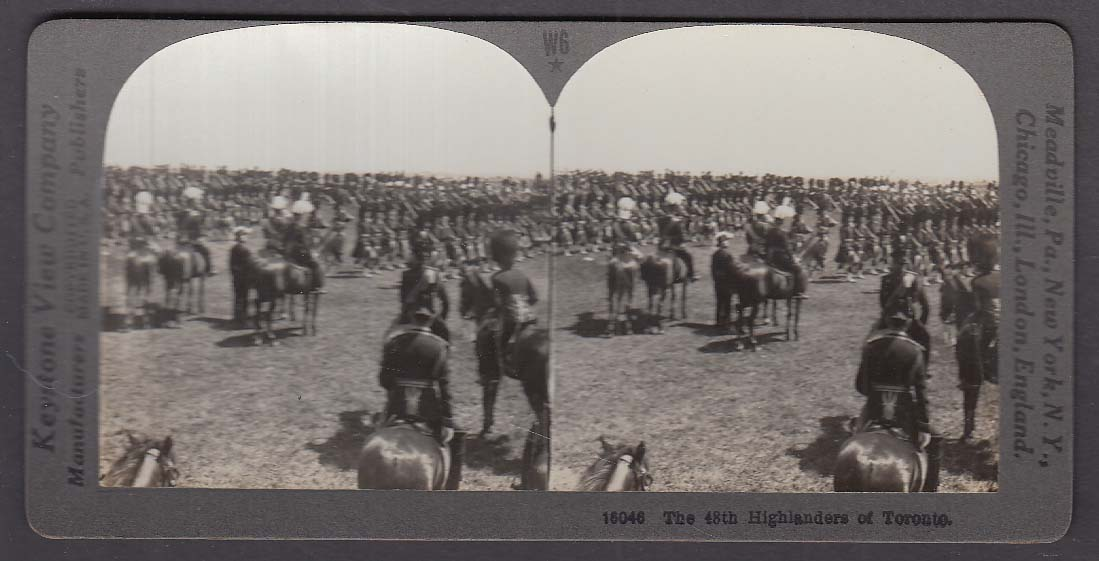 48th Highlanders of Toronto W6 WWI Keystone stereoview 1920s
