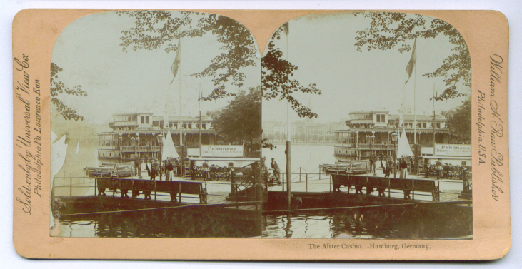 Alster Casino Hamburg Germany stereoview 189?