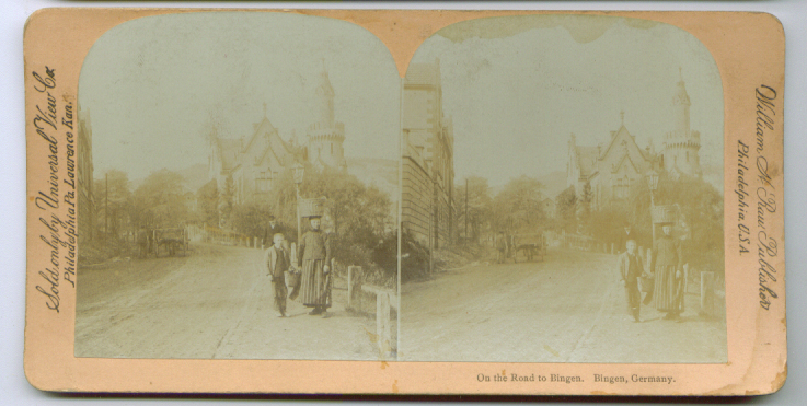 1890s Bingen Road Germany stereoview