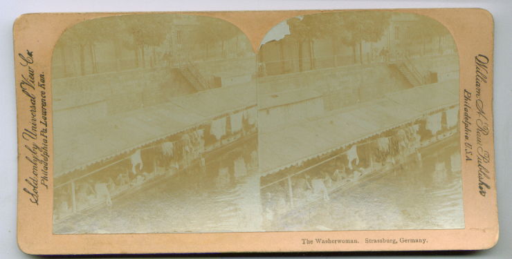 Image for Washerwomen Strasburg Germany stereoview 1890s