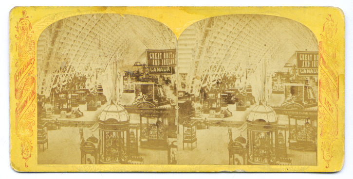 1876 Centennial stereoview Agricultural Hall