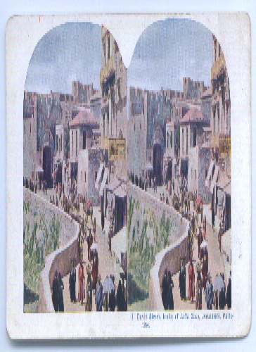 David St Jaffa Gate Jerusalem stereoview