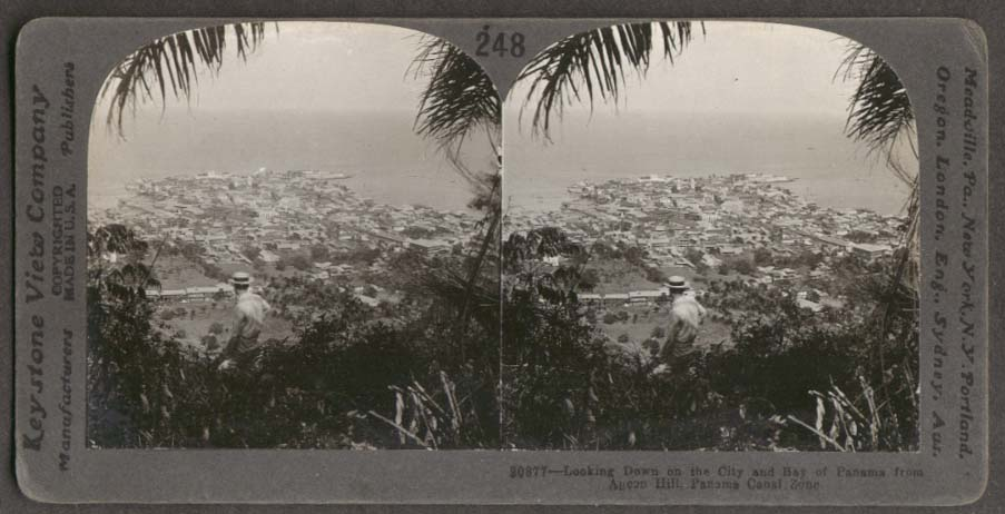 City of Panama & Bay from Ancon Hill stereoview 1910s