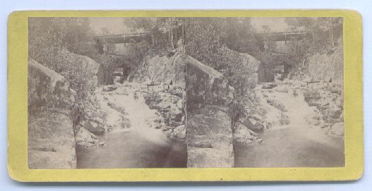 1880's Stereoview White Mountains Nancy Bridge