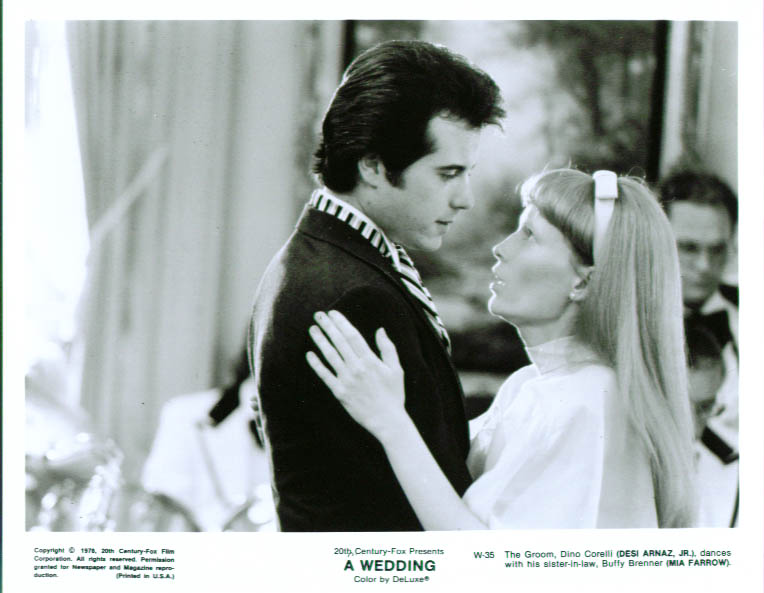 Desi Arnaz Jr Mia Farrow A Wedding 8x10 still 1978