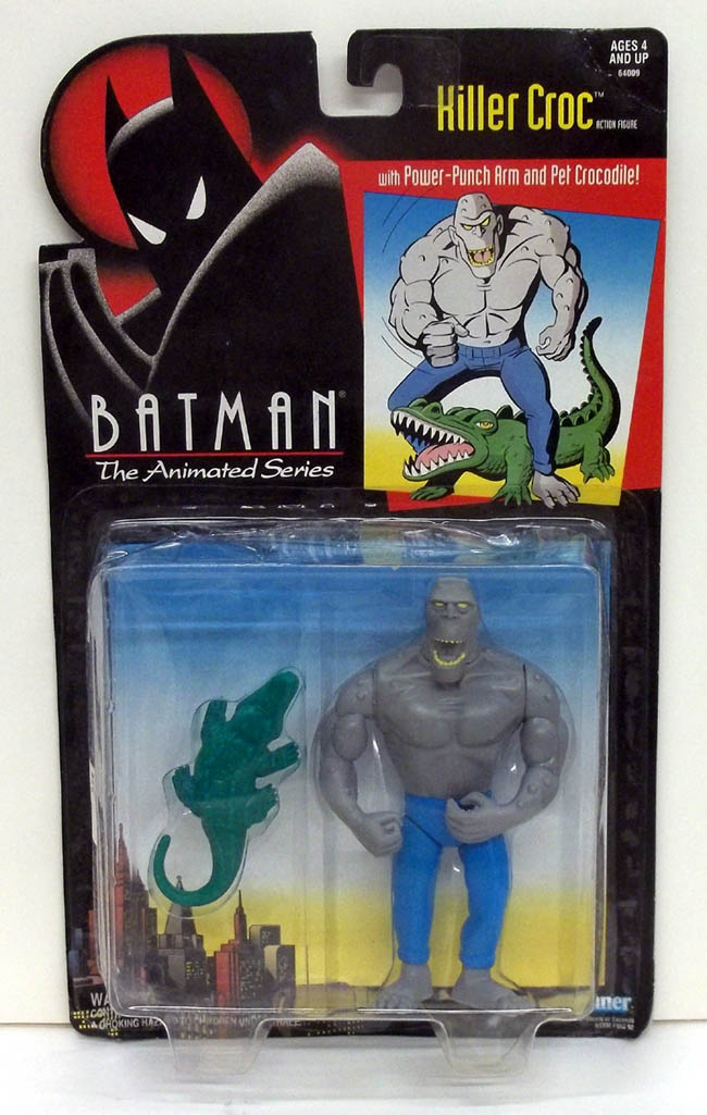 Batman the Animated Series Killer Croc w/ Power-Punch Arm & Pet NMOC 1994