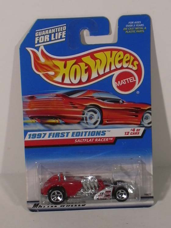 Hot Wheels Saltflat Racer 1st Edition #4 1997 MOC
