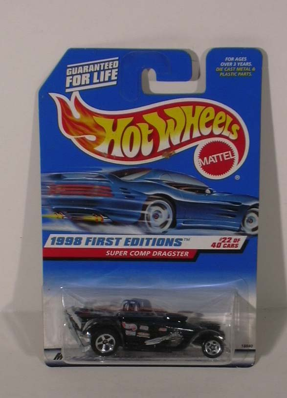 Hot Wheels Super Comp Dragster 1st ed 1998 #22 MOC