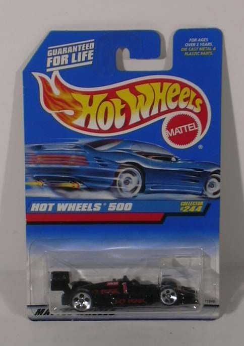 Hot Wheels 500 #244 No Fear Racer #1 MOC 1997