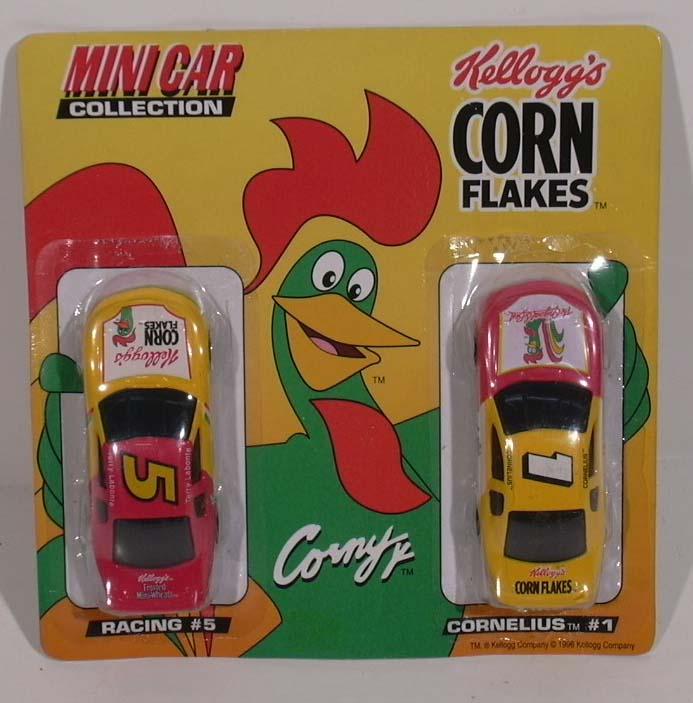 Kellogg's Corn Flakes Mini-Cars NASCAR #5 & #1 MOC 1996