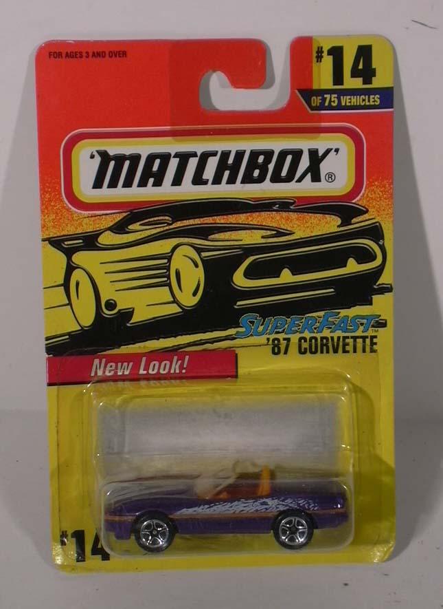 Matchbox Superfast 1987 Corvette #14 MOC 1996