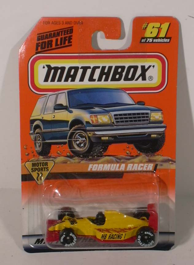 Matchbox Motor Sports Formula Racer #61 NMOC 1997