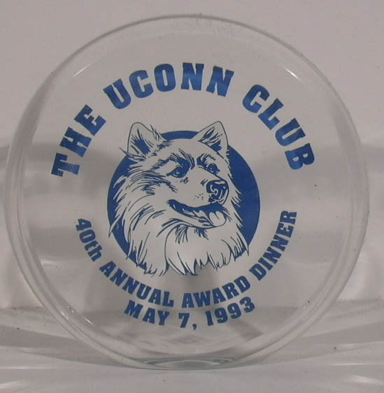 UConn Club 40th Award Dinner 5/7 1983 acrylic item