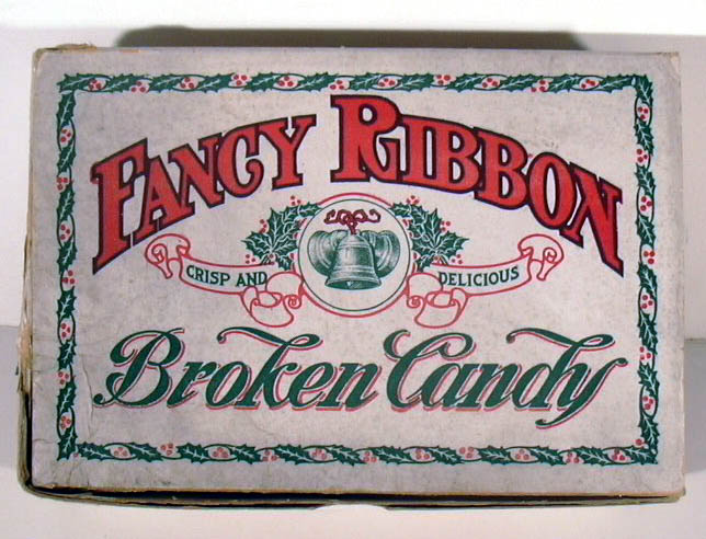 Fancy Ribbon Crisp and Delicious Broken Candy F A Easton Company Box