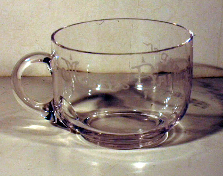 Image for Moses Bailey Old Orchard 1901 souvenir engraved teacup Maine