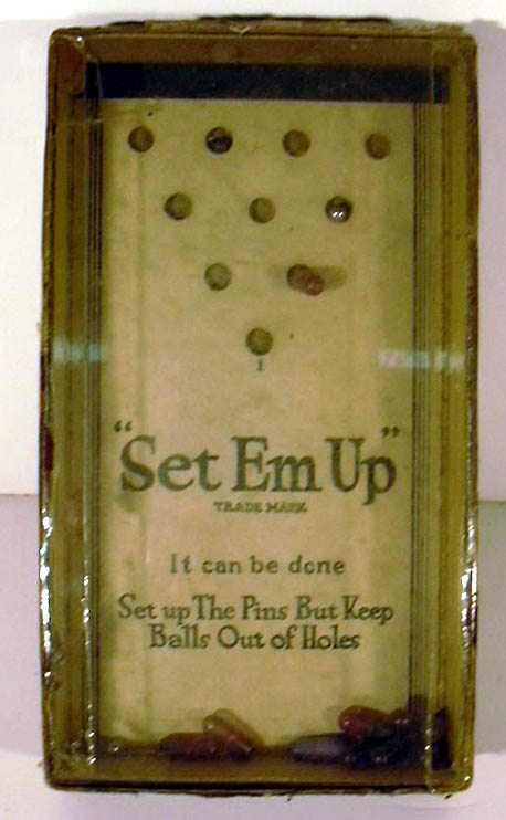 Set-Em-Up General Toy & Novelty Manufacturing Company Pin & Ball Game 1930s