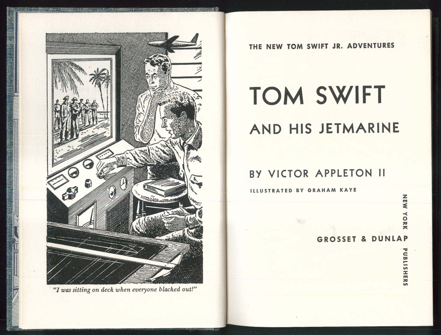 Tom Swift & His Jetmarine 1954 dustjacket version