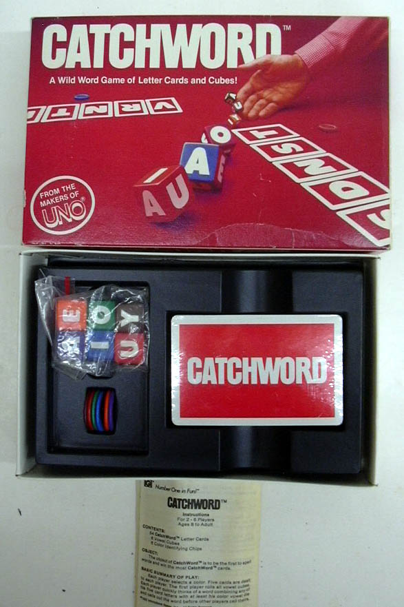 Catchword: A Wild Word Game of Letter Cards & Cubes 1982 unused