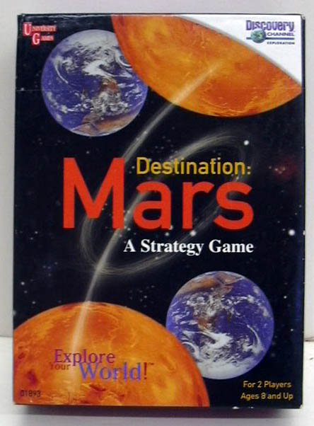 Discovery Channel Destination: Mars Strategy Game in box 1999