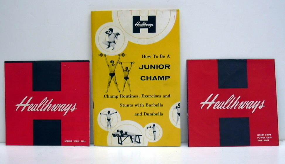 Healthways Junior Champ Olympic Beginner Exerciser Set #4302 1958
