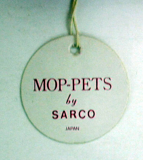 Sarco Mop-Pets red squirrel blue tie ca 1950s original tag